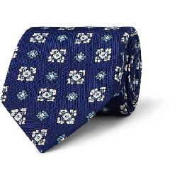 PATTERNED SILK TIE by DRAKE'S in Sabotage