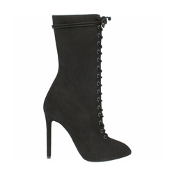 Season 4 True Onyx Lace Up Suede Boots by Yeezy in Keeping Up With The Kardashians