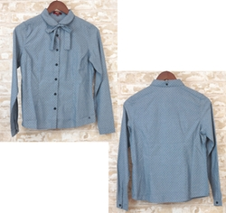 Chambray Polka Dot Long Sleeve Shirts by Merc London Merck in Secret in Their Eyes