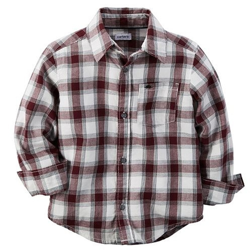 Flannel Button-Down Plaid Shirt by Carter's in Modern Family - Season 7 Episode 7