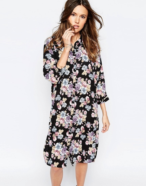 Only Floral Midi Shirt Dress by Asos in New Girl - Season 5 Episode 18