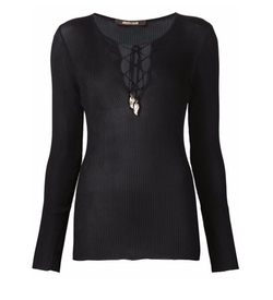 Lace-Up Ribbed Top by Roberto Cavalli in Keeping Up With The Kardashians