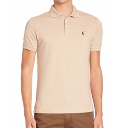 Heathered Polo Shirt by Polo Ralph Lauren in Allied