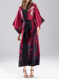 Floral Veil Robe by Josie Natori in Animal Kingdom
