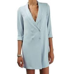 Slouchy Longline Blazer by Topshop in The Flash