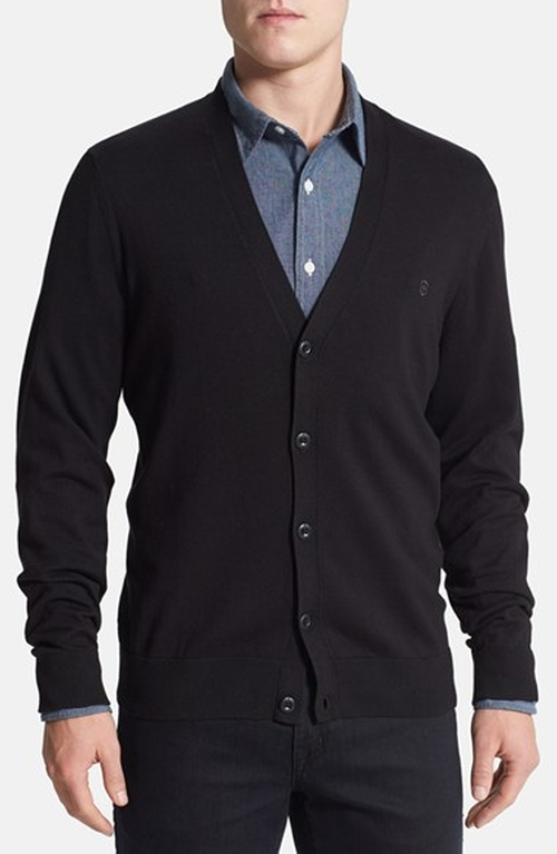 Slim Fit Stretch Cotton Cardigan by Victorinox Swiss Army in Suits - Season 5 Episode 8