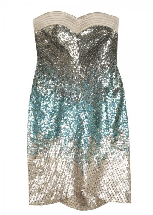 Futuristic Sequin Cocktail Dress by Matthew Williamson in Sex and the City 2
