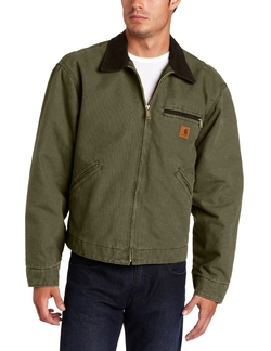 Men's Sandstone Duck Detroit Blanket Lined Jacket by Carhartt in The Wolverine