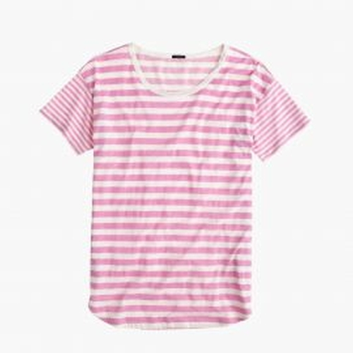 Mixed-Stripe Vintage Cotton T-Shirt by J.Crew in Jane the Virgin - Season 2 Looks