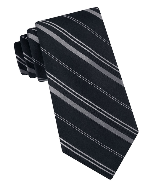 Vitality Striped Silk Tie by Michael Kors in Crazy, Stupid, Love.