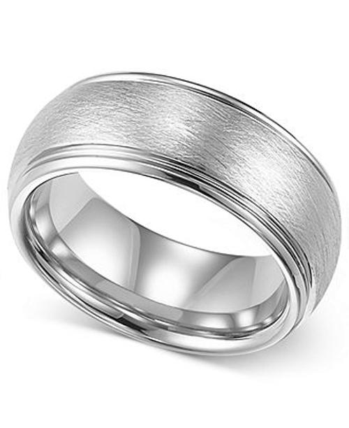 Men's Tungsten Ring Comfort Fit Wedding Band by Macy's in A Good Day to Die Hard