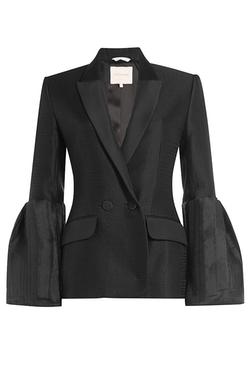 Silk-Wool Bell Sleeves Jacket by Roksanda in Suits