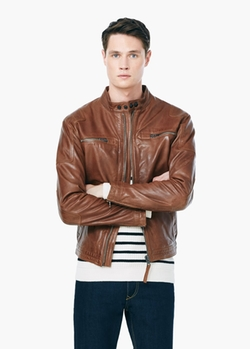Leather Biker Jacket by Mango in Quantico