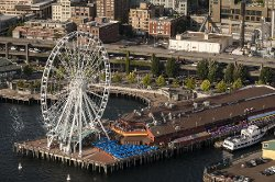 Seattle, WA by The Seattle Great Wheel in Fifty Shades of Grey