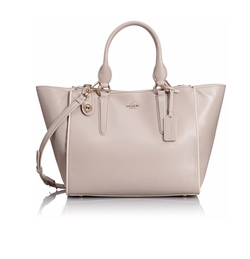 Crosby Colorblock Leather Convertible Tote Bag by Coach in Supergirl