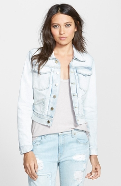 Denim Trucker Jacket by 7 For All Mankind in Insidious: Chapter 3