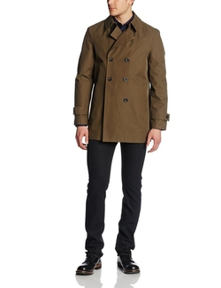 Men's Perth Double Breasted Coat by Kenneth Cole New York in Regression