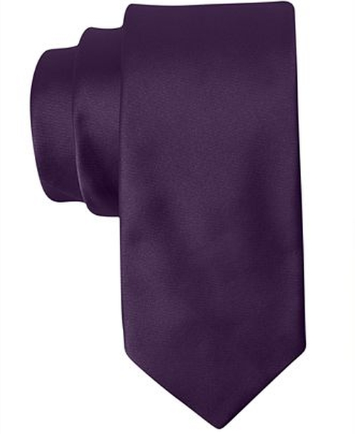 Solid Satin Slim Tie by Bar III in Regression