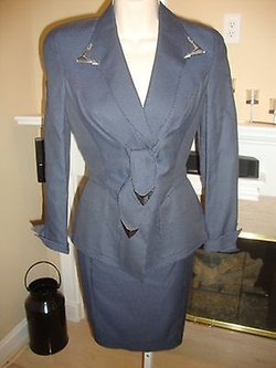 Vintage Suit with Silver Tone Accents by Thierry Mugler in American Horror Story
