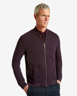 Weevers Quilted Herringbone Bomber Jacket by Ted Baker in Black-ish