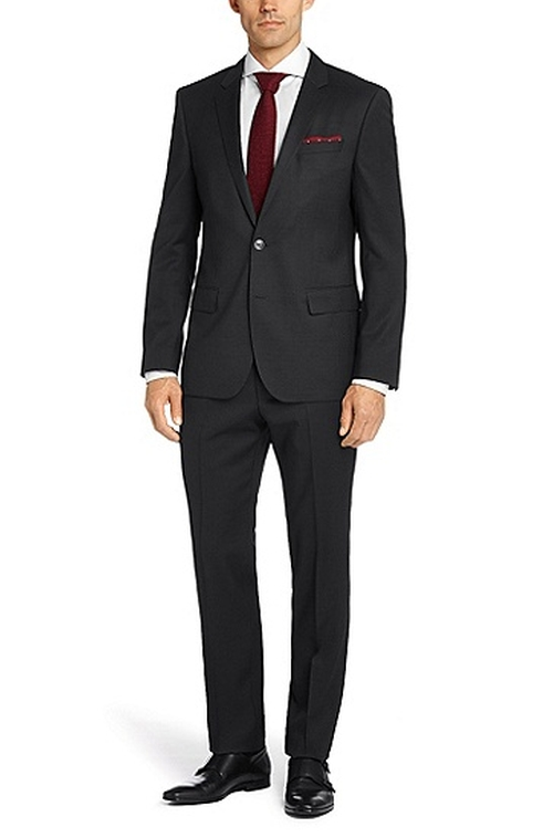 'Hutson/Gander' Slim Fit Virgin Wool Suit by Boss Hugo Boss in Ballers - Season 1 Episode 1