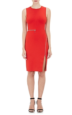 Wraparound Fitted Dress by Alexander Wang in Arrow