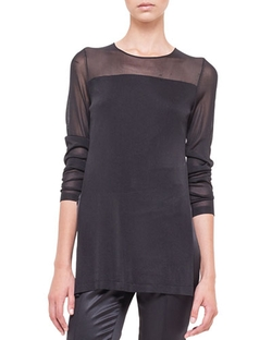 Sheer-Inset Layered Tunic by Akris in American Horror Story
