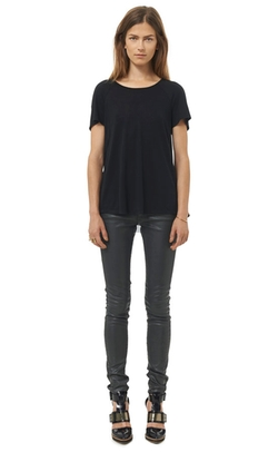 Jersey & Chiffon Pleat Back Top by Rebecca Taylor in That Awkward Moment