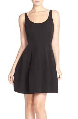 Brushed Taffeta Fit & Flare Dress by Betsy & Adam in Pretty Little Liars