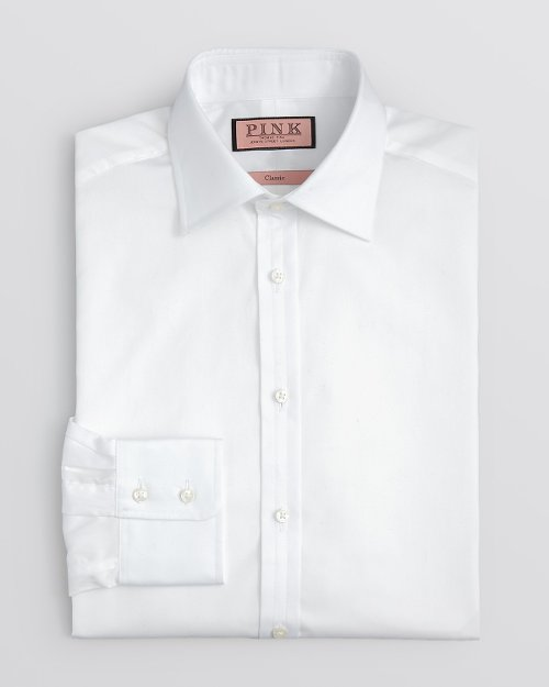 Solid Poplin Dress Shirt by Thomas Pink in Unfinished Business