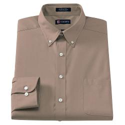 Fit Solid Button-Down Collar Dress Shirt by Chaps Classic in Jersey Boys