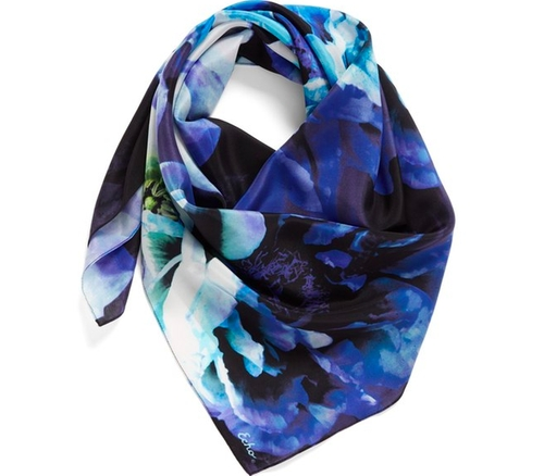 Icy Flora Silk Square Scarf by Echo in Sisters