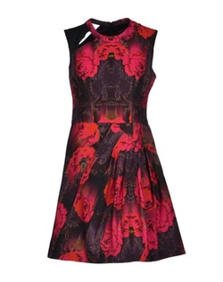 Red Runway Extraterrestrial Print Navigator Dress in Fuchsia by Nanette Lepore in Poltergeist