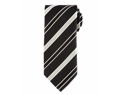 Striped Silk Satin Tie by Eton in House of Cards