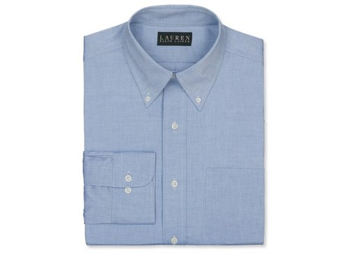 Non-Iron Pinpoint Solid Dress Shirt by Lauren Ralph Lauren in The Best of Me