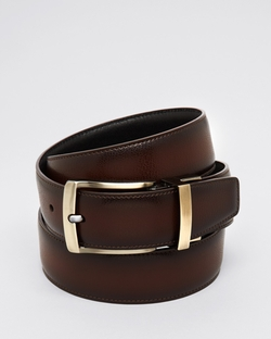 Burnished Edge Buckle Leather Belt by Bloomingdale's in Jane Got A Gun