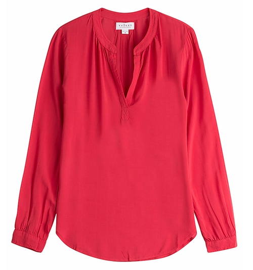 V-Neck Blouse by Velvet in The Infiltrator