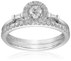 Diamond Bridal Ring Set by Amazon Collection in The Gift
