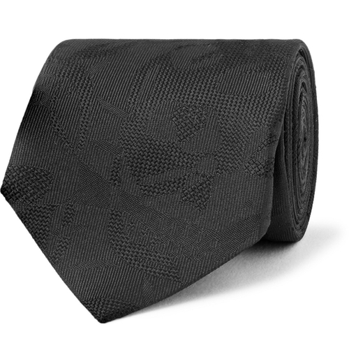 Skull Silk-Jacquard Tie by Alexander McQueen in Bridge of Spies