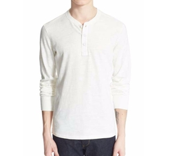 Standard Issue Slub Cotton Henley Shirt by Rag & Bone in Shadowhunters
