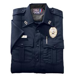 Short Sleeve Polyester Mens Command Shirt by Flying Cross in Let's Be Cops