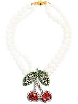'Cherry' Necklace by Shourouk in Scream Queens