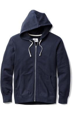 Mid Weight Terry Zip Hoodie by Reigning Champ in Chronicle