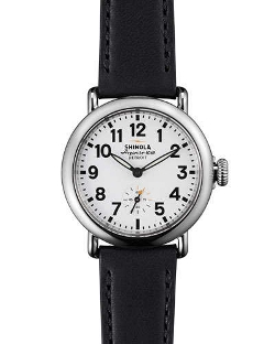 Runwell Watch with Black Leather Strap by Shinola in The Gift