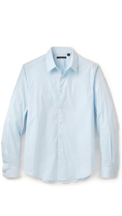 Sylvain Solid Dress Shirt by Theory in Black or White