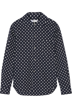 Polka-Dot Cotton-Poplin Shirt by Comme Des Garçons in Black-ish