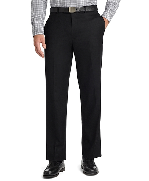 Madison Fit Plain-Front Flannel Trousers by Brooks Brothers in Secret in Their Eyes