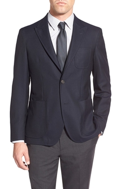 'Dino' Trim Fit Solid Wool Blazer by Strong Suit in Elementary