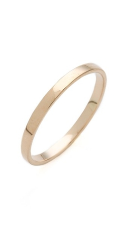 Flat Band Ring by Blanca Monros Gomez in Bridesmaids