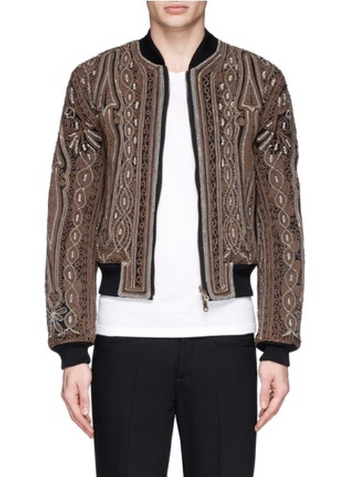 Vinny Rope Embroidery Cotton Bomber Jacket by Dries Van Noten in Empire - Season 2 Episode 9